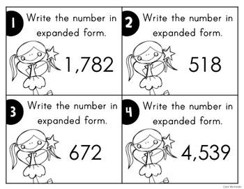 Place Value Task Cards Set 3: Expanded Form
