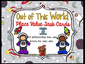 Place Value Task Cards, Space theme