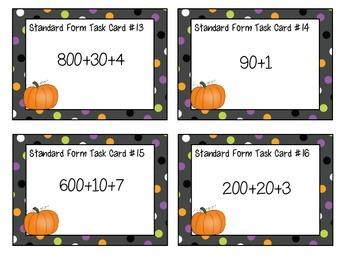 Place Value Task Cards Standard Form