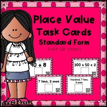 Place Value Task Cards:  Standard Form