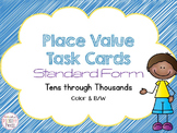 Place Value Task Cards Standard Form- Mix 'N Match