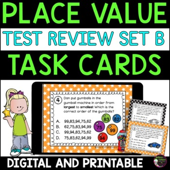 Place Value Task Cards- Super for Test Review