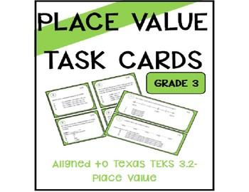 Place Value Task Cards- TEKS 3.2