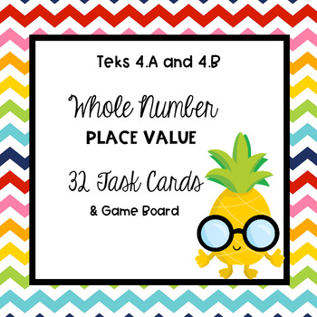 Place Value Task Cards TEKS 4.A & 4.B