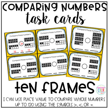 Comparing Numbers Task Cards - Ten Frames