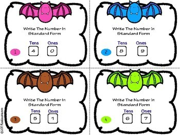 Place Value Task Cards:Place Value Tens And Ones