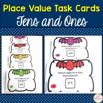 Place Value Task Cards First Grade:Place Value Tens And Ones