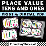 Place Value Tens and Ones Task Cards Base Ten Blocks Print