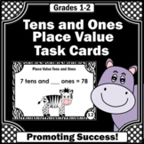2 Digit Place Value Tens and Ones Games, 1st Grade Math Centers, Task Cards