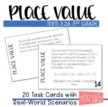 TEKS 3.2A: Place Value Task Cards
