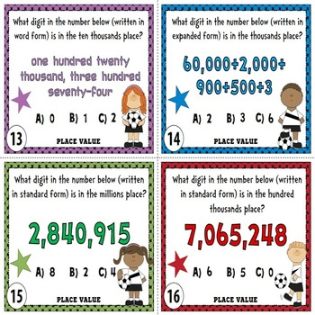 Place Value Task Cards Thousands Up To Millions By Chilimath Tpt
