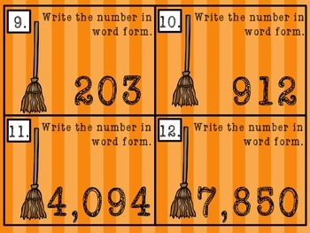 Place Value Task Cards - Through Thousands