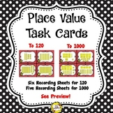 Place Value Task Cards (Two Sets: up to 120, 1000)