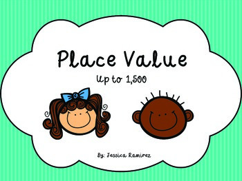Place Value Task Cards Up to 1,500
