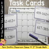 3rd Grade Go Math 1.10 Place Value Task Cards - Using Place Value to Subtract