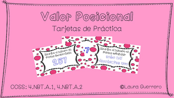 Place Value Task Cards/ Tarjetas de Practica de Valor Posicional