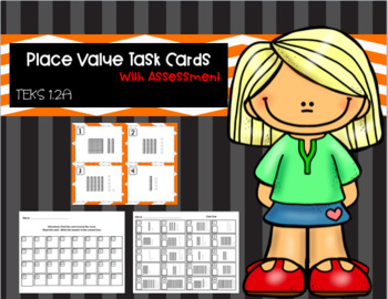 Place Value Task Cards - With Assessments
