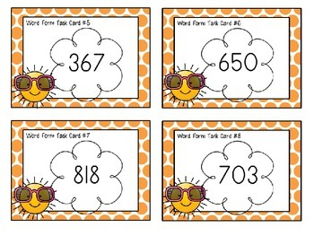 Place Value Task Cards Word Form