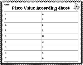 Place Value Task Cards 3rd Grade