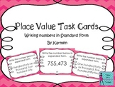 Place Value Task Cards: Writing numbers in expanded form