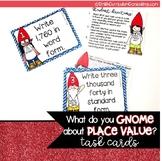 Place Value Task Cards- Zebra Theme