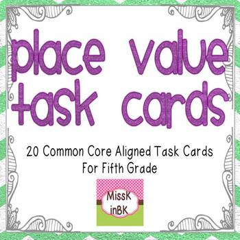 Place Value Task Cards for Fifth Grade
