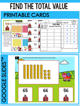Place Value Task Cards for Tens and Ones - Place Value Activities