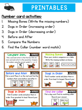 Number Sense Centers First Grade - Numbers to 120 Activities