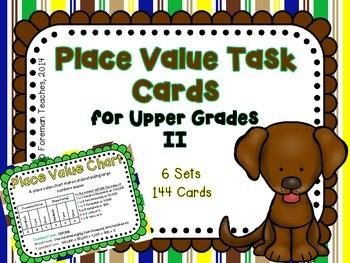 Place Value Task Cards for Upper Grades II - 6 sets