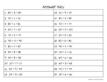 Place Value Task Cards for numbers up to 99