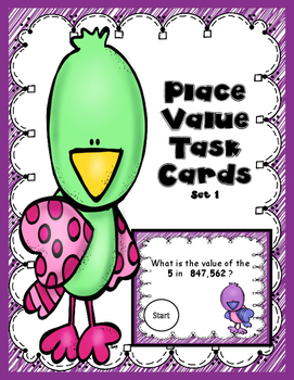Place Value Task Cards set 1