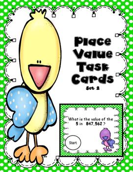 Place Value Task Cards set 2