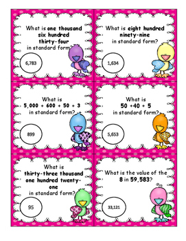 Place Value Task Cards set 3