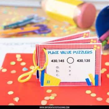 52 Place Value Task Cards: Convert, Compare, & Order