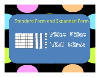 Place Value Task Cards (to the hundreds place)