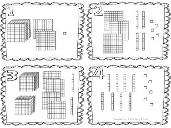 Place Value Task Cards (using Base-10 Blocks)