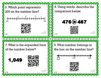 Place Value Task Cards w/QR Codes **TEKS & TRS Aligned**