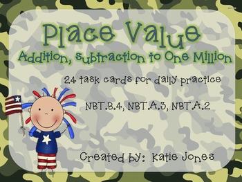 Place Value Task Cards w/ QR codes {Go Math! Chpt 1}