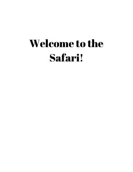 Place Value Task - Safari Park