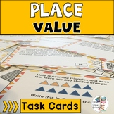 Place Value Task Cards QR Codes TEKS aligned 4th Grade