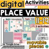 Place Value Teen Number Valentine's Theme for Google Slides