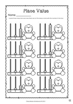 Place Value to 20 - Teen Numbers (10 to 19)  - Worksheets / Printables