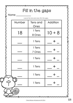 place value to 20 teen numbers 10 to 19 worksheets. Black Bedroom Furniture Sets. Home Design Ideas