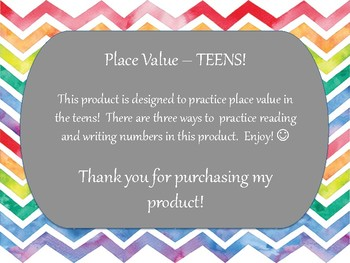 Place Value - Teens!