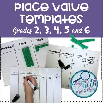 Grade 3, 4  and 5 Place Value Templates for Instruction and Independent Practice