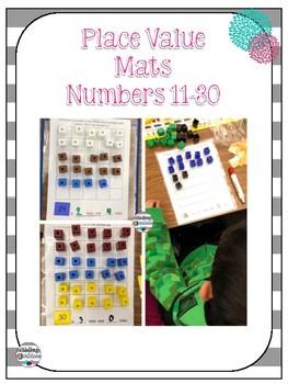 Place Value Ten Frame Mats 11-30