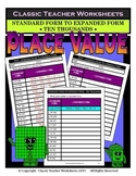 Place Value-Ten Thousands-Standard to Expanded Form-Grades 4-5 (4th-5th Grade)