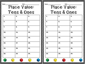 Place Value: Tens & Ones