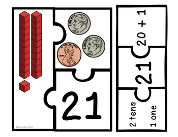 Place Value Puzzles - Tens & Ones (Math Center) FULL VERSION