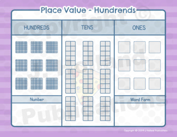 """Math Fundamentals Toolbox: Sheets """"Place Value Tens"""" and """"Place Value Hundreds"""""""